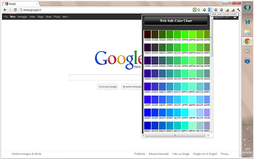 html color chart