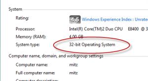 32 bit operating system