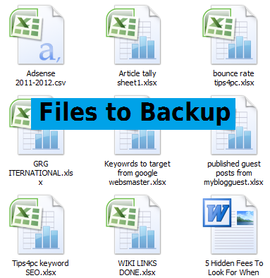 What Files and Folders to Backup