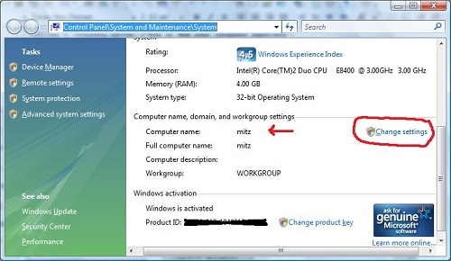 how to find your pc name