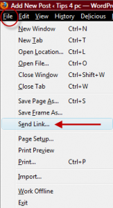 send a HTML link