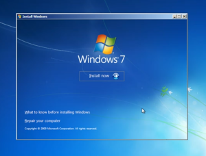 install windows seven now