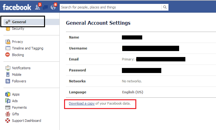 how to delete facebook click start my archive