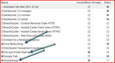 how to allow access through firewall windows 8