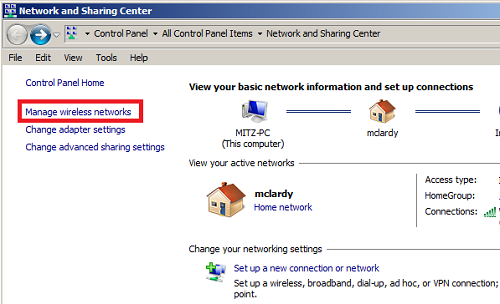backup wireless network settings