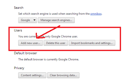 chrome new user