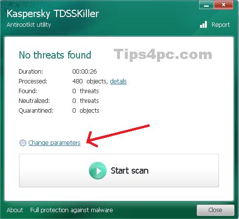 tdsskiller-scan-change-para
