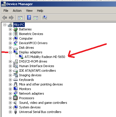 which graphics card in device manager