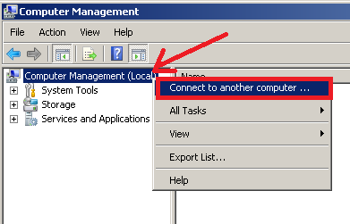 open computer management on another computer