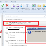 Cannot delete spam emails from Windows Live Mail