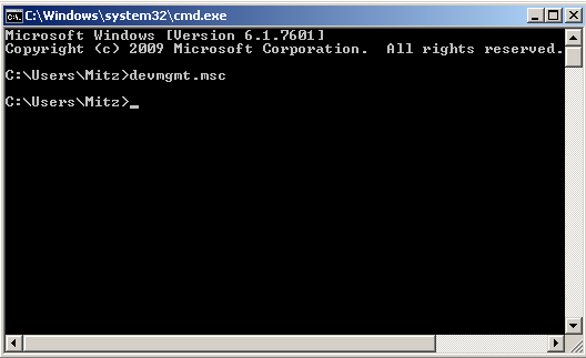 device manager through command prompt