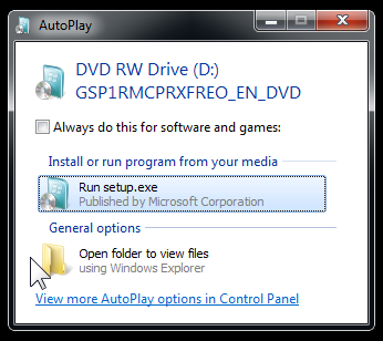 Open DVD to view files