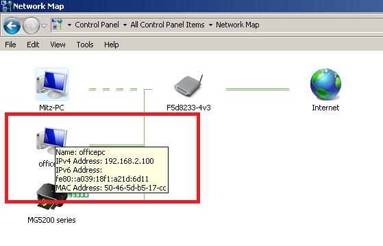 find computer ip address for remote desktop