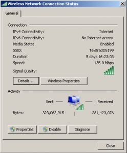 network connection status