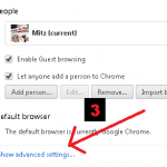 show advanced settings in chrome